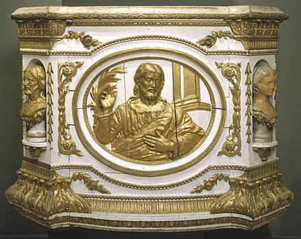 Cuve de la chaire de l'ancienne église de Baie-Saint-Paul