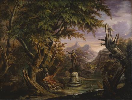Paysage au monument à Wolfe