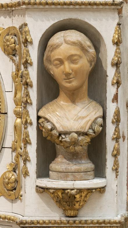 Buste de la Vierge de la chaire de l'ancienne église de Baie-Saint-Paul