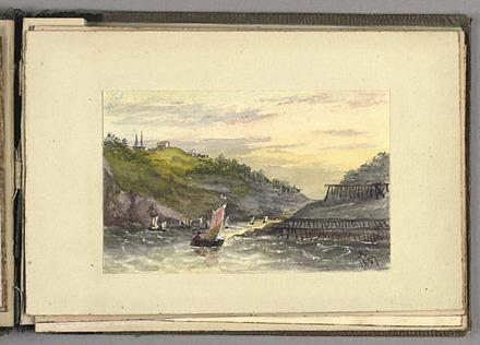 Entrée dans le port de St. John's, Terre-Neuve, du carnet The Canadas