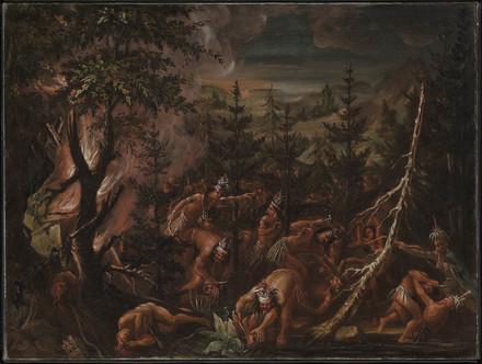 Le Massacre des Hurons par les Iroquois