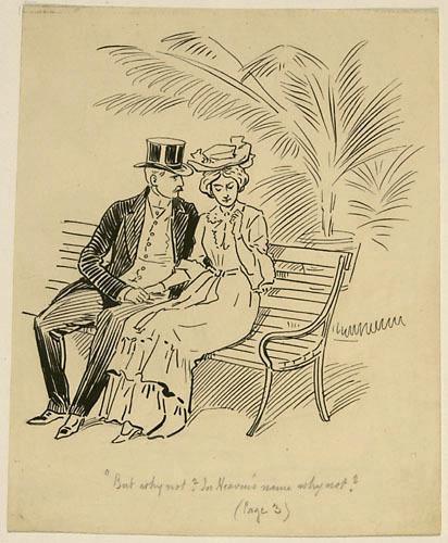 « Celui-ci saisit la petite main dans les siennes.. ». Illustration pour Weep, Poor Will (Pleure, pauvre Guillaume), conte de Louis Fréchette