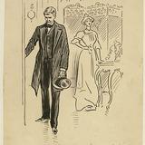 « Ce soir-là, quand Guillaume des Isles prit congé de son amie... ». Illustration pour Weep, Poor Will (Pleure, pauvre Guillaume), conte de Louis Fréchette