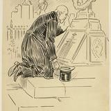 « Le veillard cacha sa tête blanche dans ses mains, et fondit en larmes ». Illustration pour Weep, Poor Will (Pleure, pauvre Guillaume), conte de Louis Fréchette
