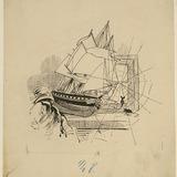 « La Frégate dans le grenier de la sacristie ». Illustration pour Dominique, conte de Louis Fréchette
