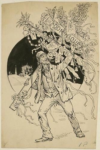 « Dominique prêchant la Croisade du Jugement ». Illustration pour Dominique, conte de Louis Fréchette