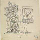 « Dominique alla s'agenouiller gravement aux pieds du corps ». Illustration pour Dominique, conte de Louis Fréchette