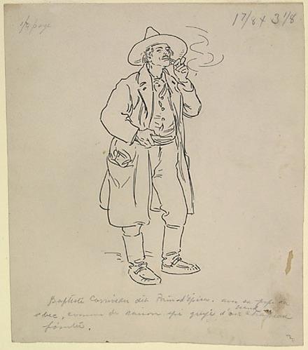 « Baptiste Corriveau, dit Pain-d'épices ». Illustration pour Les Lutins, conte de Louis Fréchette