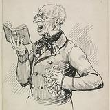« Picard entonnant l'antienne Serve bone ». Illustration pour Chouinard, conte de Louis Fréchette