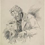« Bon vent, mais mauvais côté, hi hi hi ». Illustration pour Chouinard, conte de Louis Fréchette