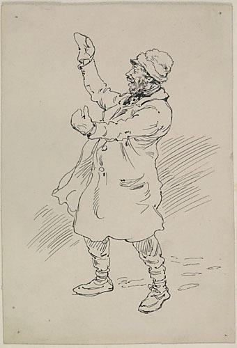 « Chouinard chantait avec une voix assez passable, ma foi ». Illustration pour Chouinard, conte de Louis Fréchette