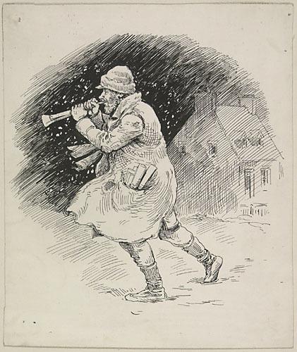 « Chouinard en tournée de facteur ». Étude pour Chouinard, conte de Louis Fréchette