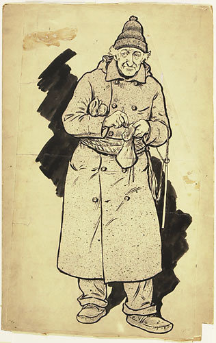 « Ancien canadien ». Illustration pour Les Anciens canadiens de Philippe-Joseph Aubert de Gaspé