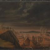 Après l'incendie du faubourg Saint-Roch à Québec, vu vers l'ouest