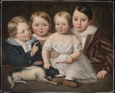 Adolphe, Auguste, Eugène et Alphonse Hamel, neveux de l'artiste