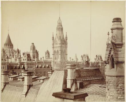 Les Anciens Édifices du Parlement, Ottawa, vue sur les toits