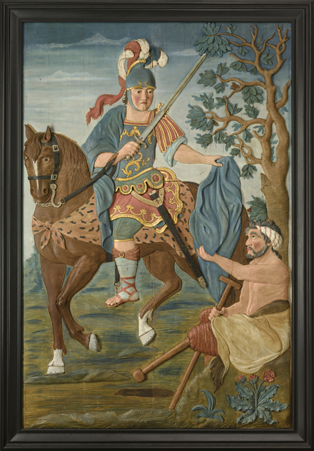 Saint Martin partageant son manteau avec un pauvre