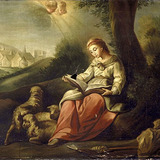 Sainte Geneviève gardant son troupeau