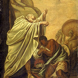 Saint Philippe, diacre, baptisant l'eunuque de la reine Candace