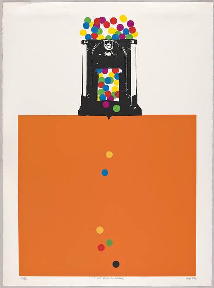 « ...et boule de gomme », du livre d'artiste «Hommage à Albert Dumouchel»