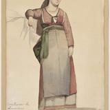 Femme en costume régional italien