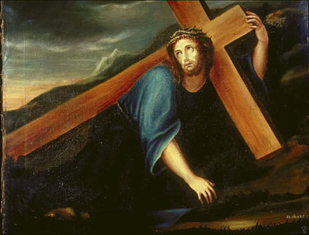 Jésus tombe pour la première fois. IIIe Station du chemin de la Croix