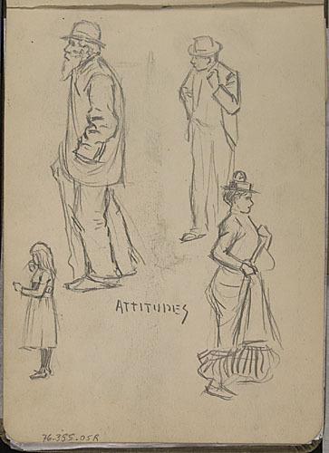 « Attitudes », études de divers personnages