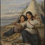 Jeunes Indiennes à Lorette