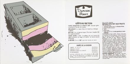 Gâteau béton, du livre d'artiste «Graff Dinner»