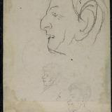 Trois Profils d'hommes caricaturés
