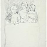 Esquisse de trois enfants en buste