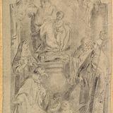 Vierge Marie entourée de quatre saints