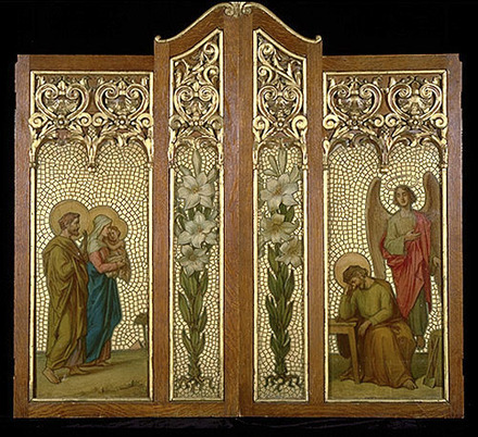 L'Apparition de l'ange à saint Joseph. La Fuite en Égypte