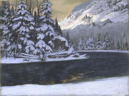 Chute de neige sur la Rivière du Nord
