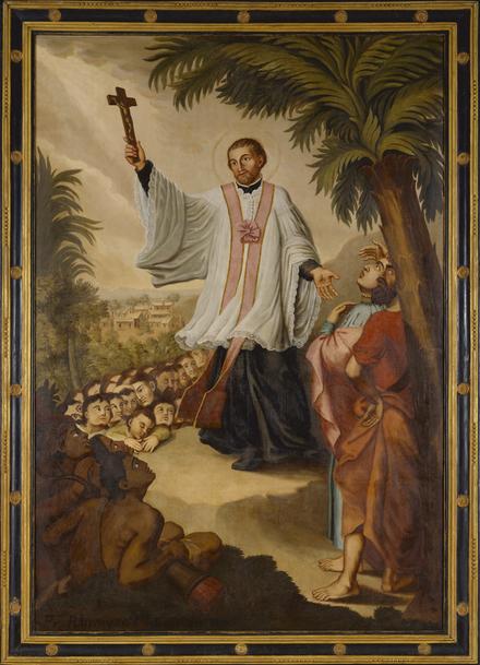 Saint François Xavier prêchant aux Indes