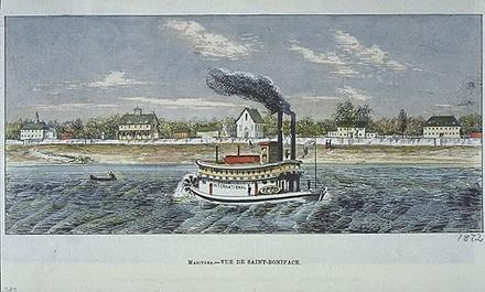 Vue de Saint-Boniface, Manitoba, extrait de L'Opinion publique