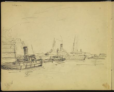 « L'Athenia » dans le port de Montréal