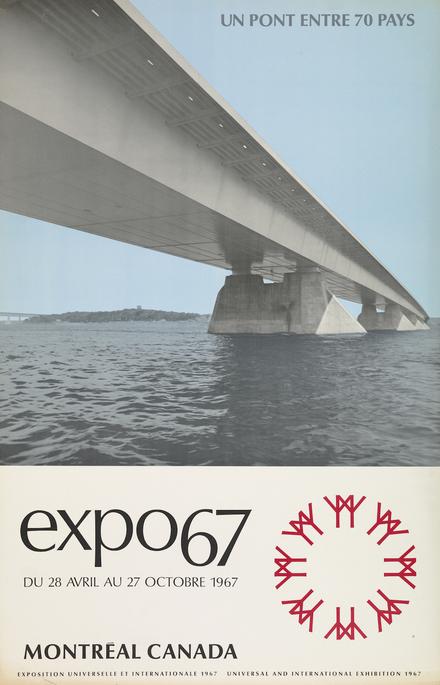 Affiche « Expo 67. Un pont entre 70 pays »