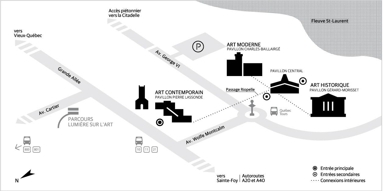 Plan accès au musée