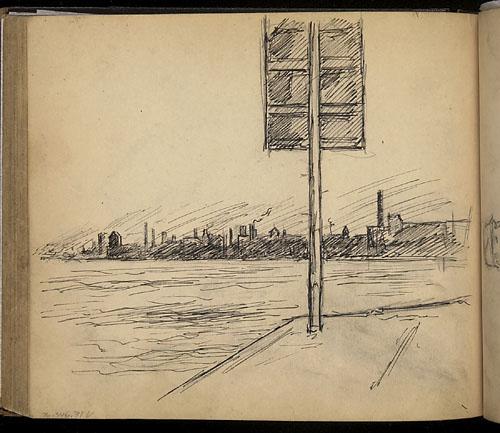 Edmond-Joseph Massicotte, Vue du port de Montréal